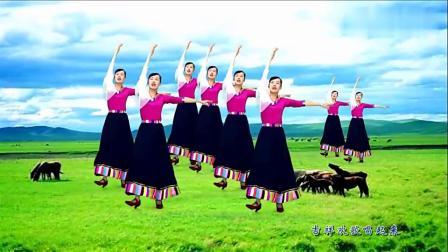 广场舞《吉祥欢歌》欢快藏族歌曲,舞姿优美教学版,真好看