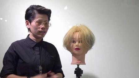 潮短发 美发技术 托尼盖剪发
