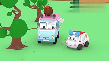 小汽车们带上餐垫和食物郊游去野餐