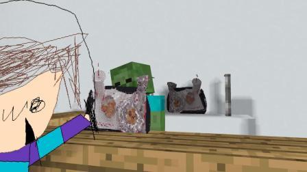 我的世界动画-在巴迪餐厅打工-Maltshake Animations