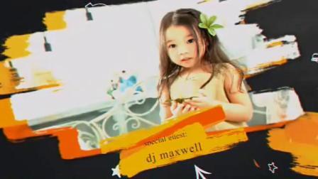 儿童1AE模板片头 开学季主题派对包装设计黑板上的粉笔和笔刷图片照片展示1920