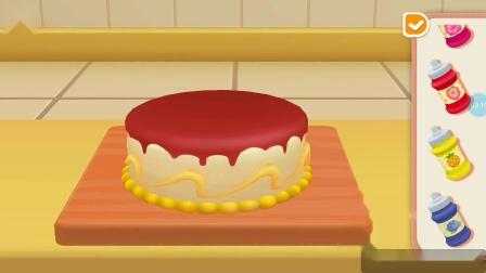 【小爱】我的超级飞侠 乐迪蛋糕店为客人做美味水果蛋糕游戏