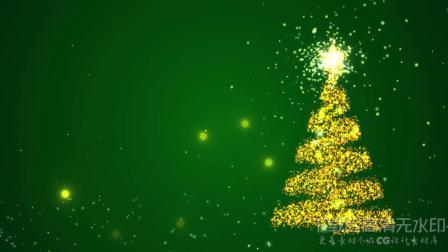 s85 卡通魔法粒子圣诞节圣诞树LED背景视频ae模板  会声会影 视频背景 led舞台背景 LED视频素材 开场视频