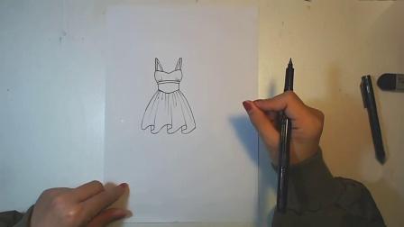 服装设计:用几分钟教大家画一下款式图!