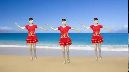 广场舞《青青河边草》简单32步,非常好看,一学就会
