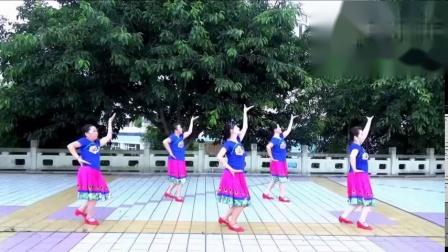 谢春燕广场傣族舞《竹篱笆外野菊花》原创编舞