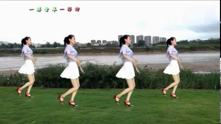 回味老歌广场舞《青青河边草》越看越喜欢,演唱高胜美