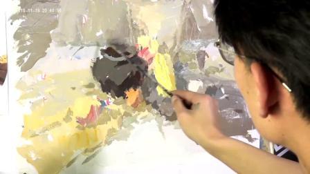 【色彩】李进荣  模拟考题示范讲解甘肃联考——兰州宏刚画室