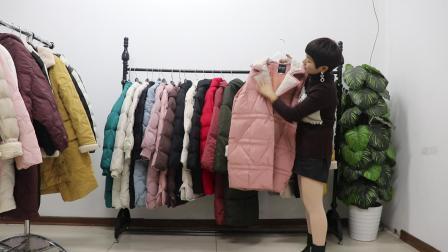 (已清)丫丫女装609期,新款长款棉衣30件起批72元/件,20件起批75元/件(不包邮)