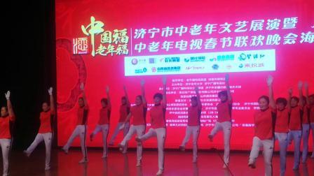 中国大金操山东泗水泉乡舞韵健身操队,参加济宁市电视台春晚海选赛。