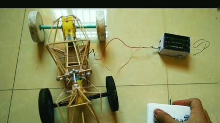 自制遥控大脚车,带减震,diy科技小发明