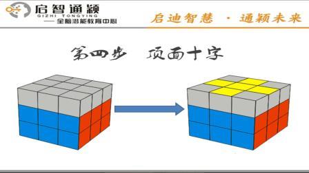 启智教育-3阶魔方教程5(顶面十字)