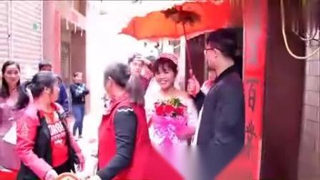 广西贵港农村婚礼录像,新娘真漂亮,不过好多
