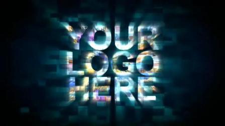 文字logo80AE模板企业片头多图片汇聚组成的LOGO展示1920