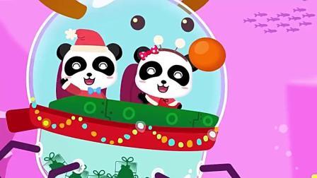 少儿益智动画宝宝巴士:圣诞老人送布丁给鲨鱼一家