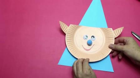 英文棒棒堂 手工圣诞花环 3 纸盘Paper Plate Christmas Craft for Preschoolers  Easy Kids Craft