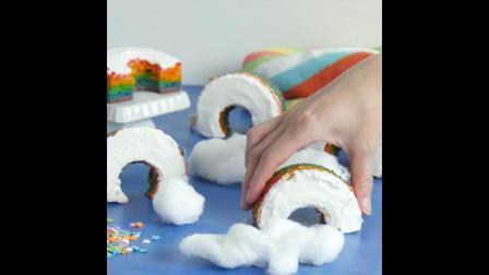 教你如何做出好看又好吃的彩虹蛋糕