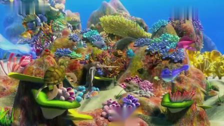 海底大冒险2:可爱小鱼觉得自己能打败大鲨鱼,不是喝醉了吗?