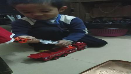 亲子游戏消防车救援