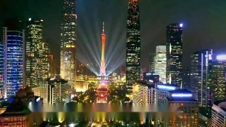 广州灯光节,五彩缤纷的灯光笼罩在广州塔,身在其中好兴奋,漂亮