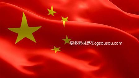 五星红旗中国国旗飘扬明亮视频素材