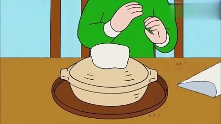 樱桃小丸子:丸子吃上妈妈做的砂锅面,感觉太好吃真幸福