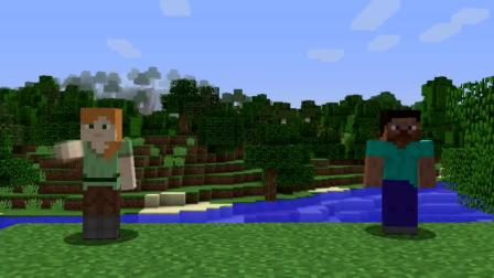 我的世界动画-爱丽克丝 vs 史蒂夫-下界基地-Alex & Steve