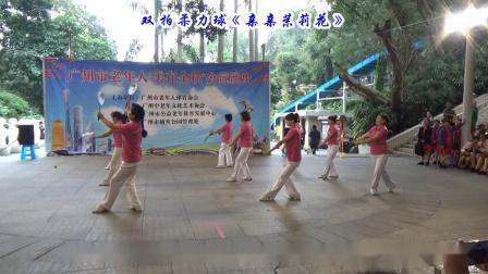 双拍柔力球《亲亲茉莉花》广州柔力球双拍双球训练队