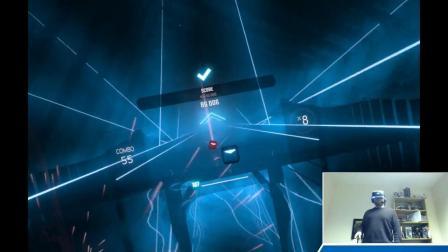 国外玩家体验PSVR版节奏VR游戏《Beat Saber》