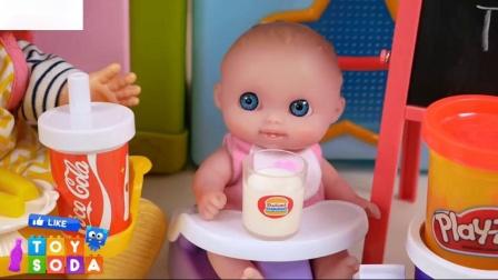 娃娃大汉堡炸薯条可乐烹饪时间玩具苏打