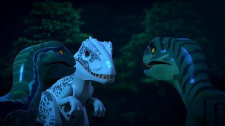 乐高侏罗纪世界利用迅猛龙围攻帝王暴龙