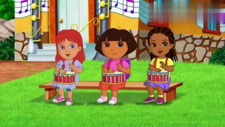爱探险的朵拉第八季:朵拉带巴士来到音乐学校,音乐冒险太棒了