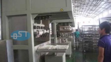 必硕科技——纸浆模塑设备半自动工包生产机械1出4