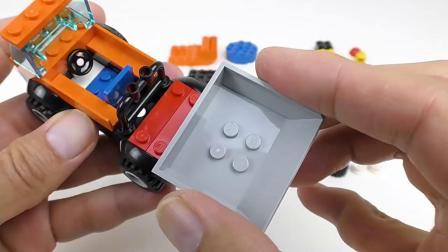 益智乐高玩具拼装翻斗卡车和搅拌车-