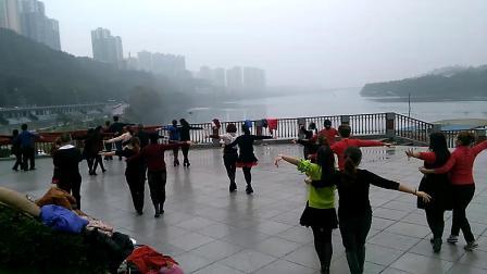 武汉休闲恰恰双人舞   广安市舞友之家演练 北江美
