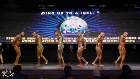IFBB 2018年世界男子业余健美锦标赛男子健美100公斤级决赛比较评分