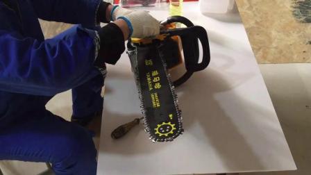 油锯安装启动视频