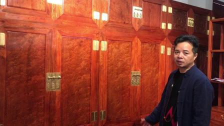 红木福哥:全面展示极品纹理的缅甸花梨木顶箱柜