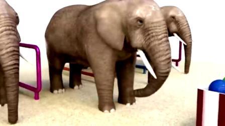 大象吃冰淇淋, 改变颜色, 这很有趣!