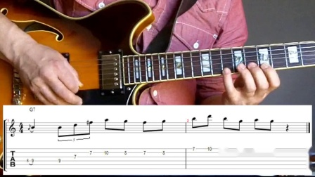 Grant Green jazz guitar lesson - Lick # 1 - Dominant 7th