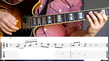 Grant Green jazz guitar lesson - Lick # 2 - Dominant 7th
