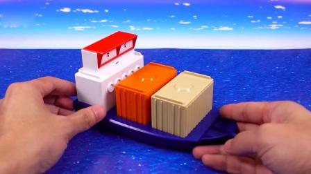 亲子早教益智,用太空沙制作一条小船,玩得超开心
