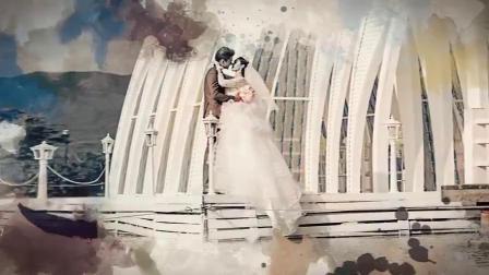 AE模板中国风水墨婚庆结婚开场视频唯美浪漫婚礼片头视频相册