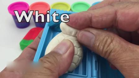 亲子早教益智,用橡皮泥制作彩色的雪糕,超漂亮