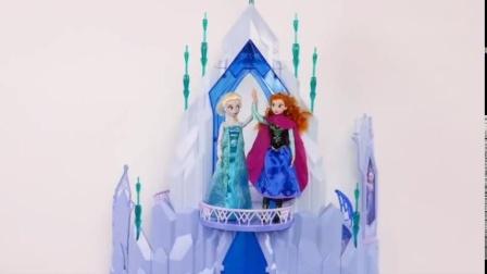 艾莎的城堡玩具,冰雪奇缘模拟的一天