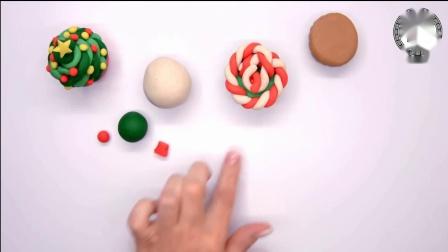 儿童手工彩泥DIY,教孩子们用彩泥制作美味的圣诞甜筒!