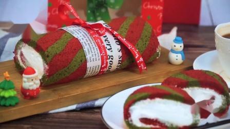 【番小茄Life|一分钟学烘焙】圣诞蛋糕卷