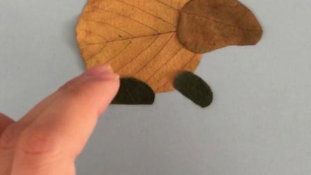 树叶贴画,遇见更美的秋天!幼儿园作业,亲子活动必做。