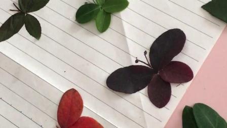 树叶贴画合集 留住秋天,树叶创意手工活动,宝宝们的作业。