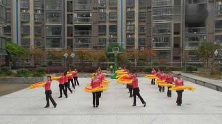 芙蓉广场舞《江山如画》扇子舞